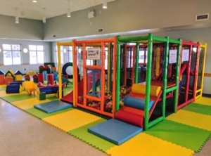 Portable Playground set up with Soft Play at SACA